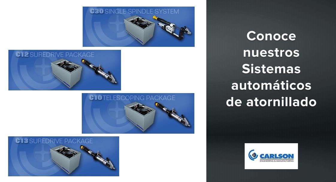 Conoce nuestros Sistemas automáticos de atornillado Carlson