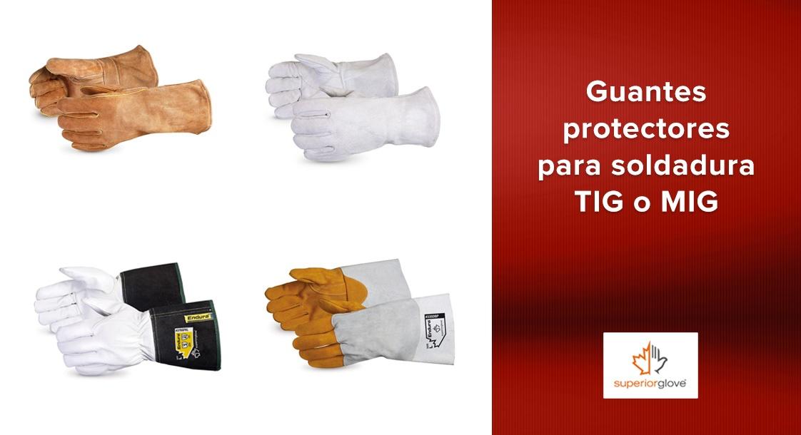 Guantes protectores para soldadura TIG o MIG de Superior Glove