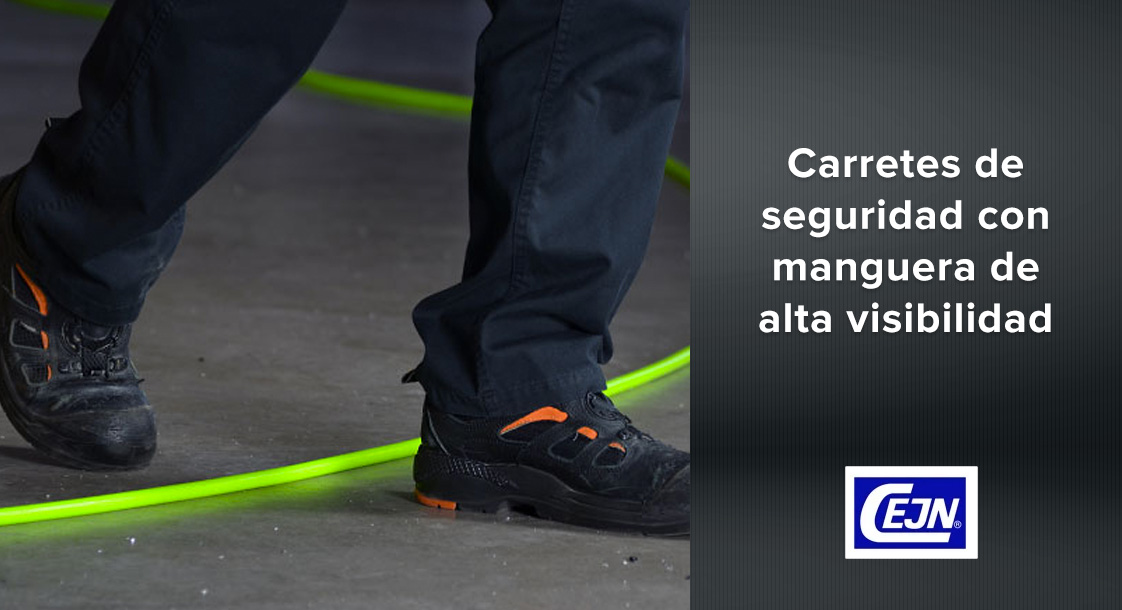 Carretes de seguridad con manguera de alta visibilidad CEJN