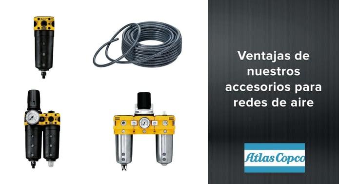 Ventajas de nuestros accesorios para redes de aire Atlas Copco