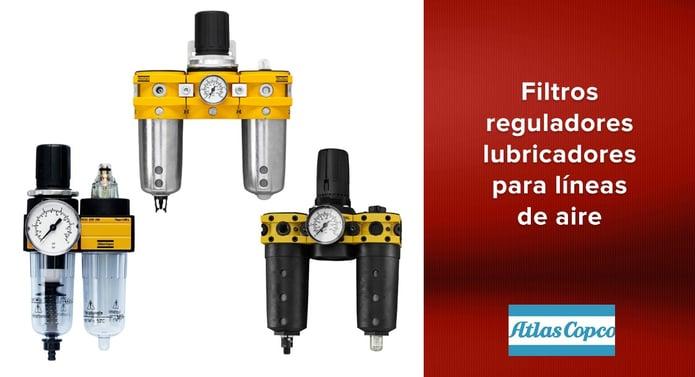 Filtros reguladores lubricadores de Atlas Copco para líneas de aire