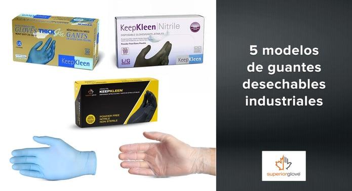 5 modelos de guantes desechables industriales Superior Glove