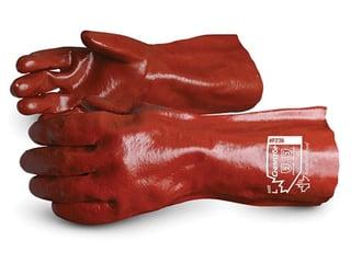 """Guantes Superior Glove Chemstop ™ Soporte de guantelete de PVC de 14 """""""