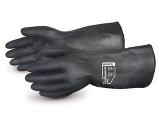Guantes Superior Glove Chemstop de uso rudo resistentes a Químicos de Neopreno