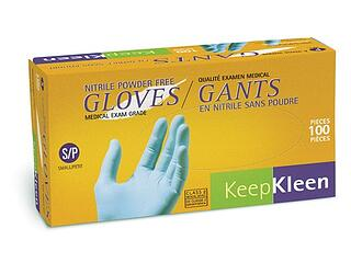 Guantes KeepKleen® desechables de nitrilo resistentes a desgarros, agujeros y pinchazos