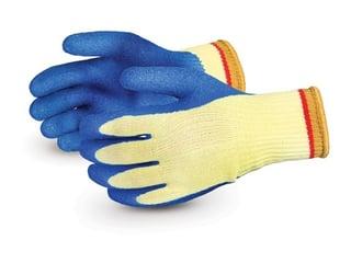 Guantes Superior Glove para vidrio de punto Kevlar de calibre 10 Powergrab con láminas de látex
