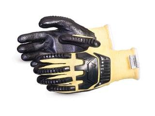 Guantes Superior Glove Dexterity® de punto resistentes a impactos y cortes mezclados de fibra de filamento compuesto / Kevlar®