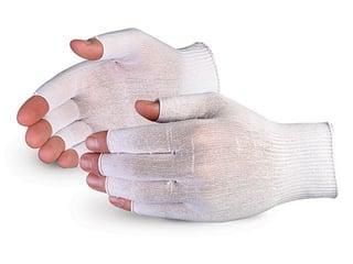 Guantes Sure Knit ™ para inspección de nylon ultra delgados con dedos descubiertos