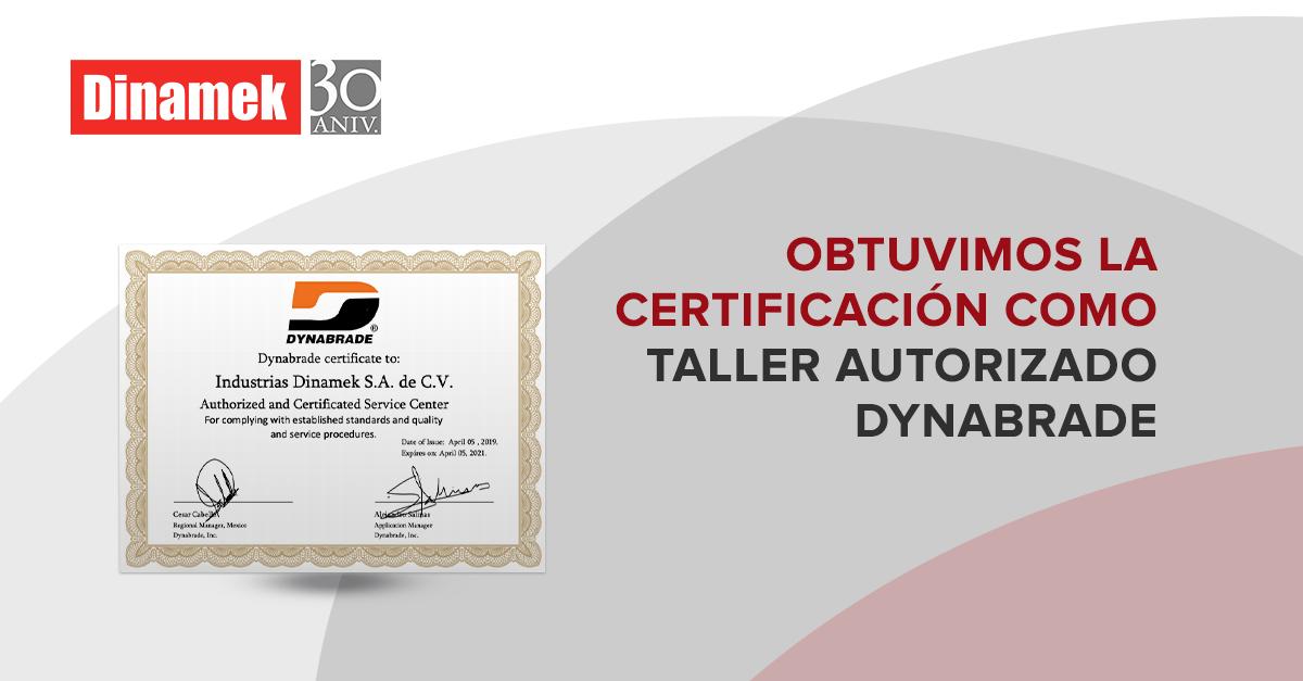 Estamos certificados como taller autorizado Dynabrade