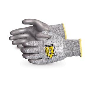 Guantes Superior Glove TenActiv ™ compuestos resistentes a los cortes con palma gris recubierta de PU