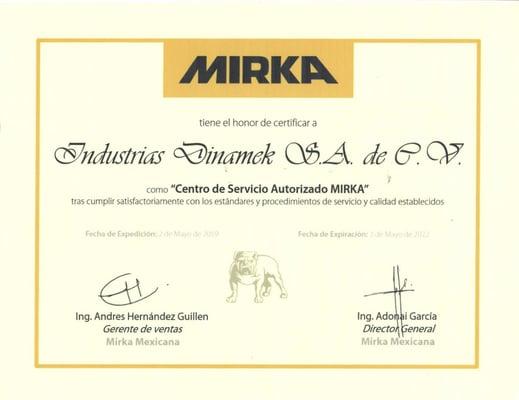 certificado mirka