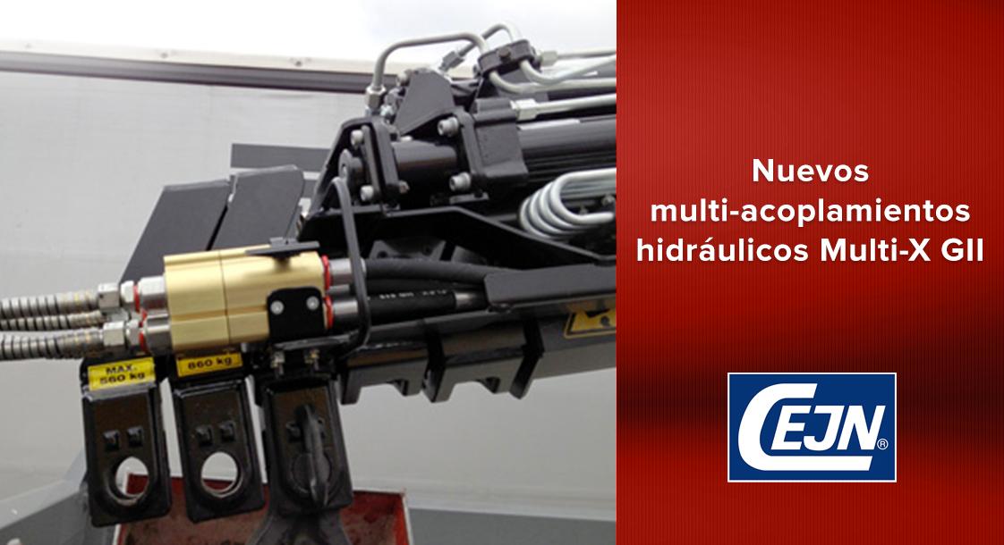 Conoce los nuevos multi-acoplamientos hidráulicos Multi-X GII CEJN