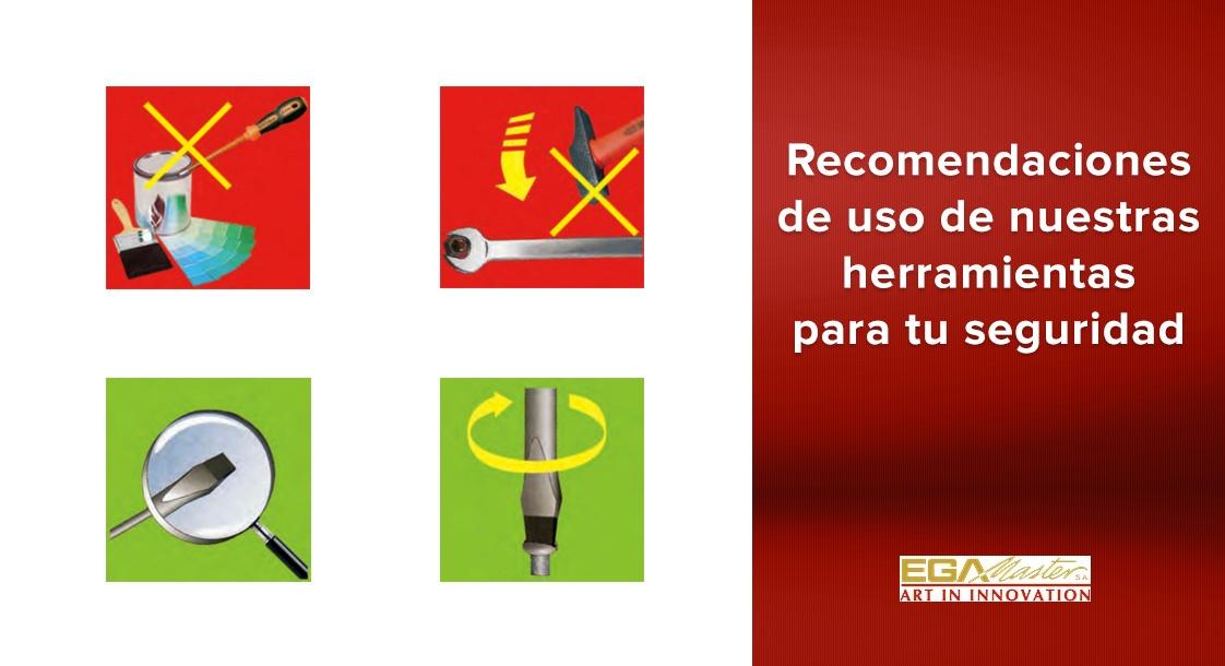 Recomendaciones de uso de nuestras herramientas EGA Master para tu seguridad