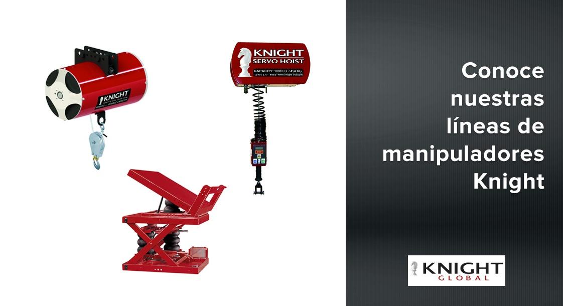 Conoce nuestras líneas de manipuladores industriales Knight Global