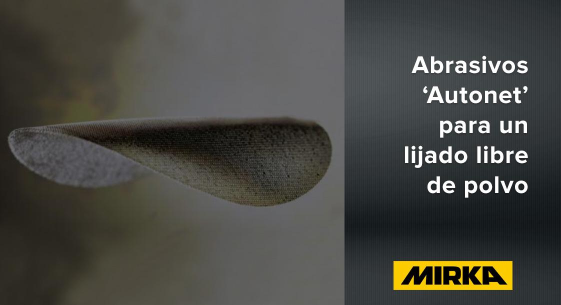 Beneficios de la línea de abrasivos 'Autonet' de Mirka para acabados automotrices