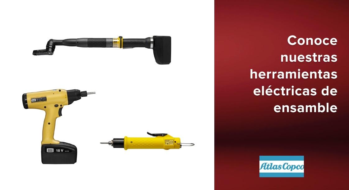 Tipos de herramientas eléctricas de mano Atlas Copco