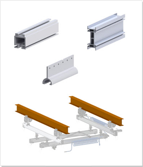 Rieles de aluminio para estaciones de trabajo