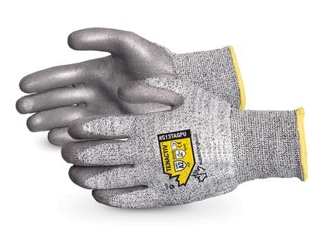 TenActiv ™ resistentes al corte con palmas grises revestidas con PU